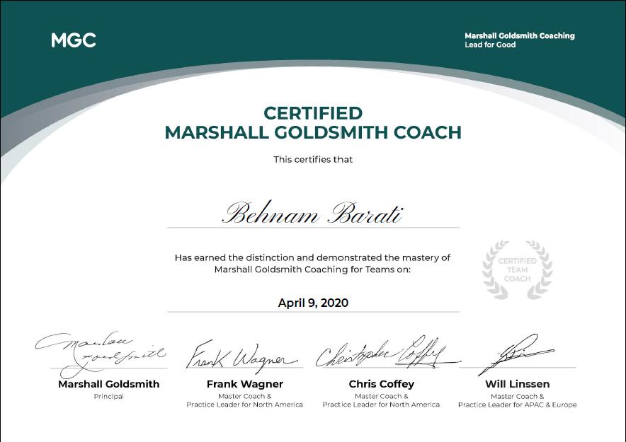 April 9 2020 Behnam Barati Certified MGC Team Coach - وبسایت بهنام براتی